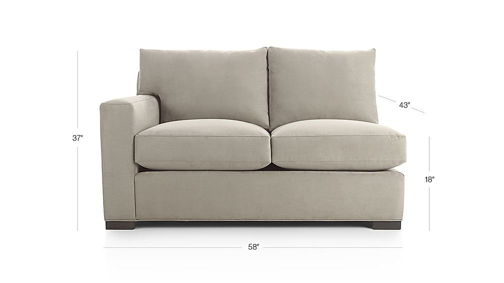 Axis Ii Left Arm Loveseat Douglas Coffee Crate And Barrel