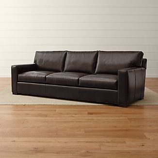 "Axis II Leather 3-Seat 105"" Grande Sofa"