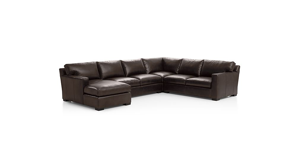 Axis II Leather 4-Piece Sectional Sofa