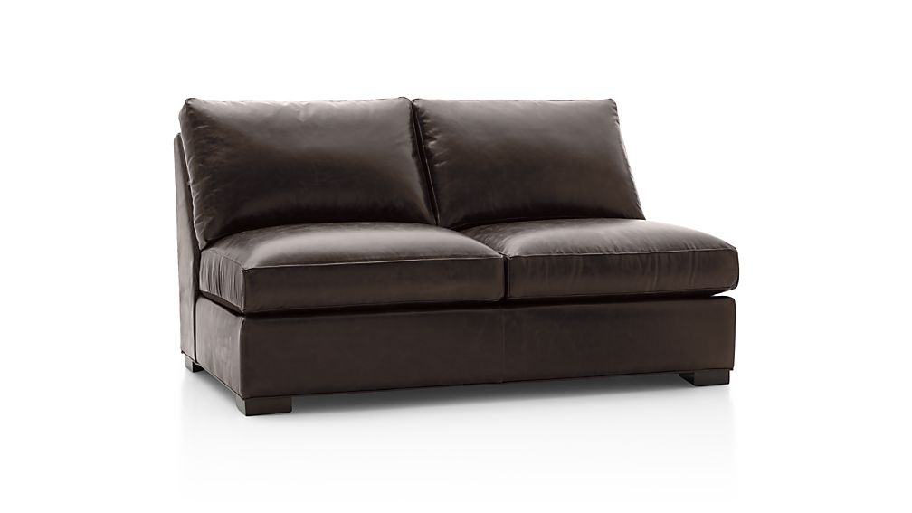 Axis Ii Leather Armless Full Sleeper Sofa Libby Espresso Crate And Barrel