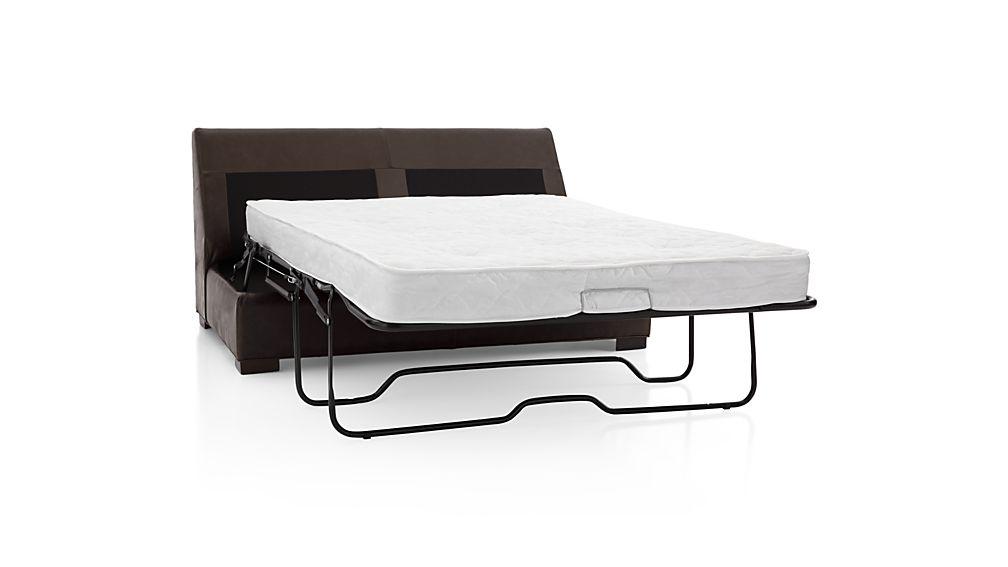 Axis II Leather Armless Full Sleeper Sofa