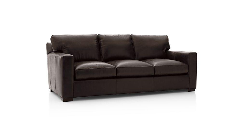 ... Axis II Leather 3 Seat Queen Sleeper Sofa ...