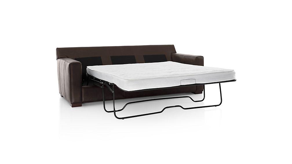 axis ii leather 3seat queen sleeper sofa