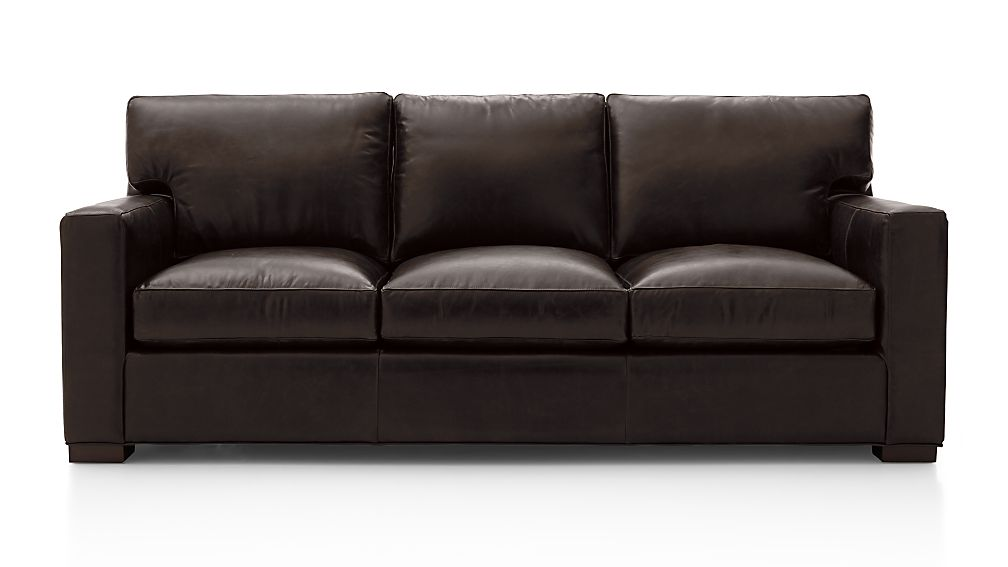 Axis II Leather 3 Seat Queen Sleeper Sofa