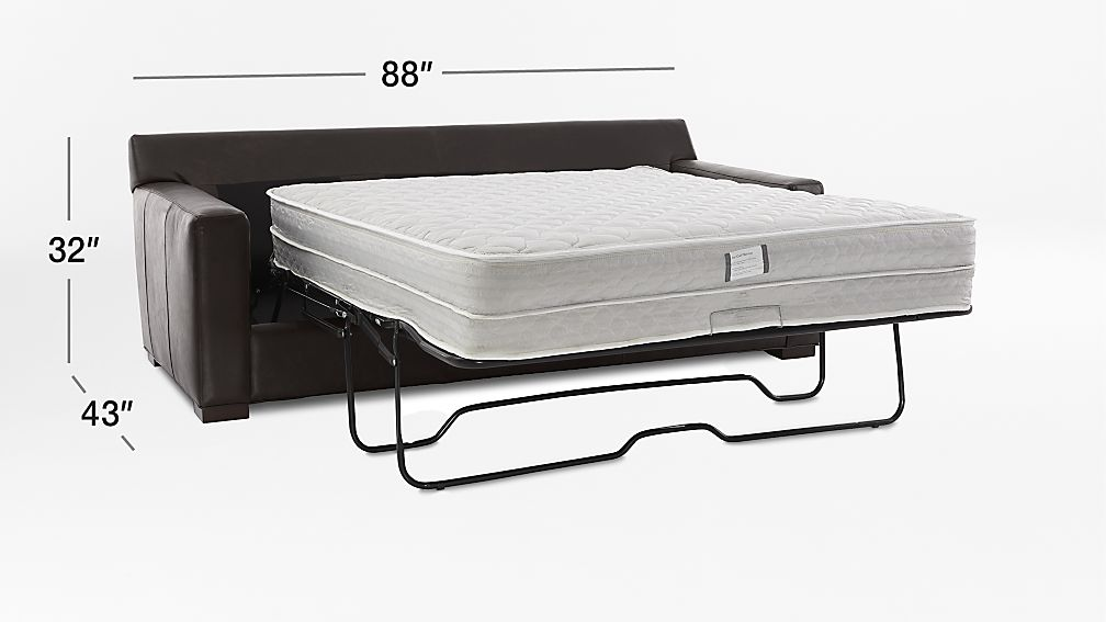Axis Ii Leather Queen Sleeper Sofa With Air Mattress In