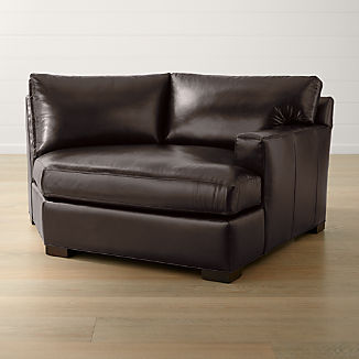Axis II Leather Right Arm Angled Chaise Lounge
