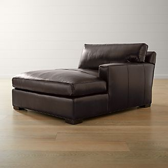 Axis Ii Leather Right Arm Double Chaise Lounge