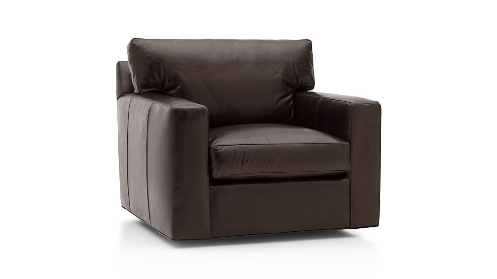 Axis Ii Leather Swivel Chair Libby Espresso Crate And