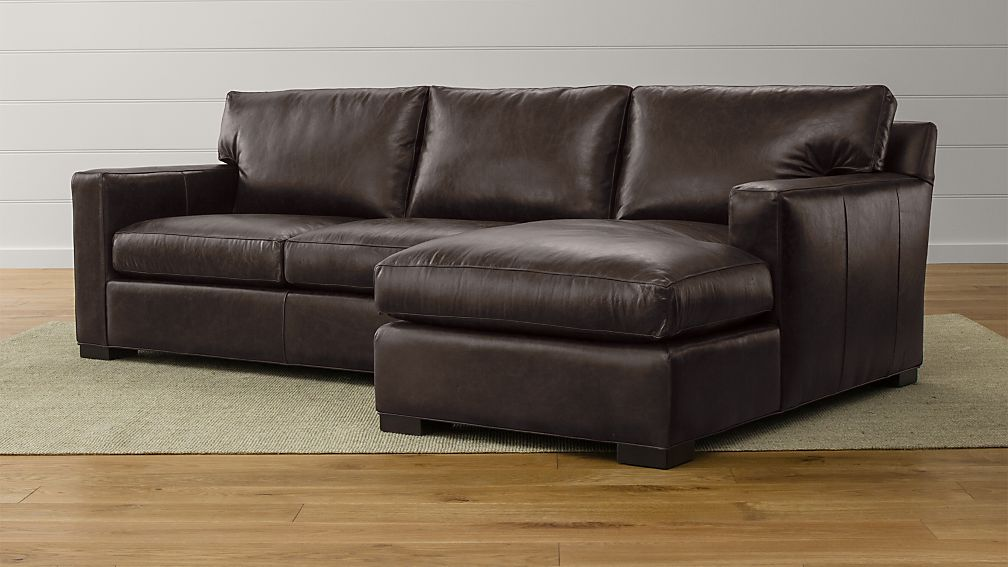 Axis Ii Leather 2 Piece Sectional Reviews Crate And Barrel
