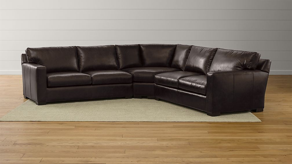 Axis II Leather 3-Piece Sectional Sofa