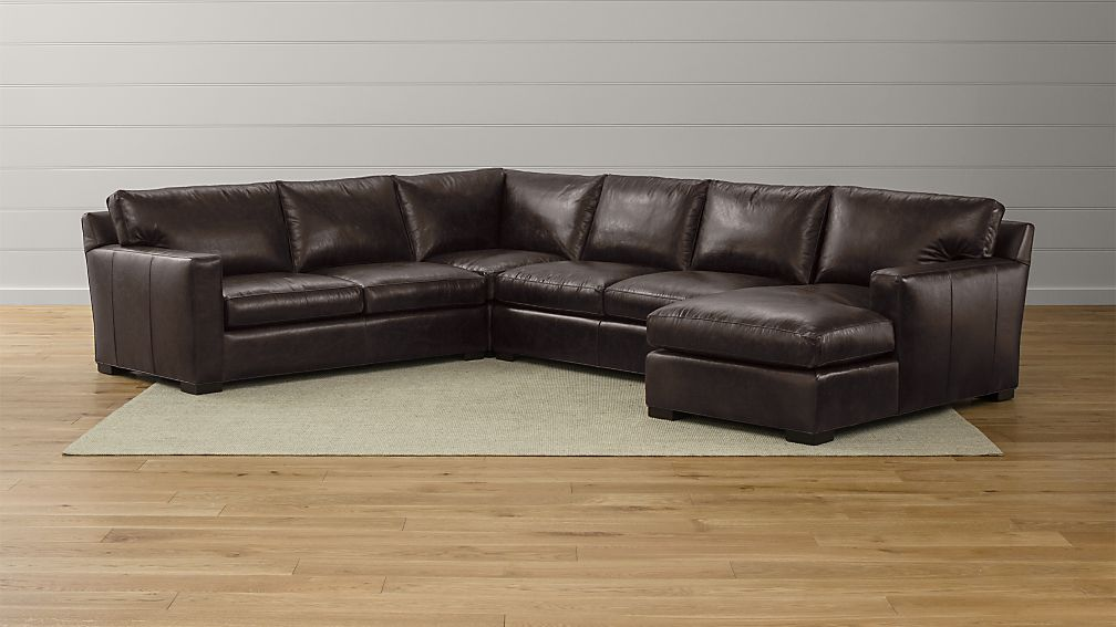 Axis II Leather 4-Piece Sectional Sofa - Image 1 of 2