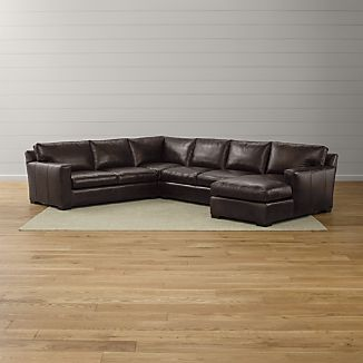Axis Ii Leather 4 Piece Sectional Sofa