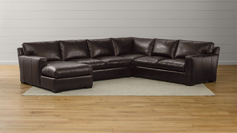 Axis Ii 4 Piece Leather Sectional Reviews Crate And Barrel