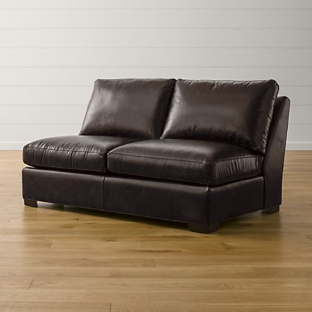 Sensational Axis Ii Leather Armless Full Sleeper Sofa With Air Mattress Crate And Barrel Ocoug Best Dining Table And Chair Ideas Images Ocougorg