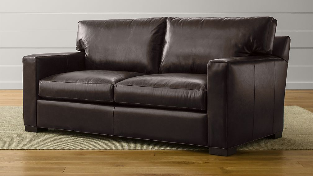 Axis II Leather Apartment Sofa + Reviews   Crate and Barrel