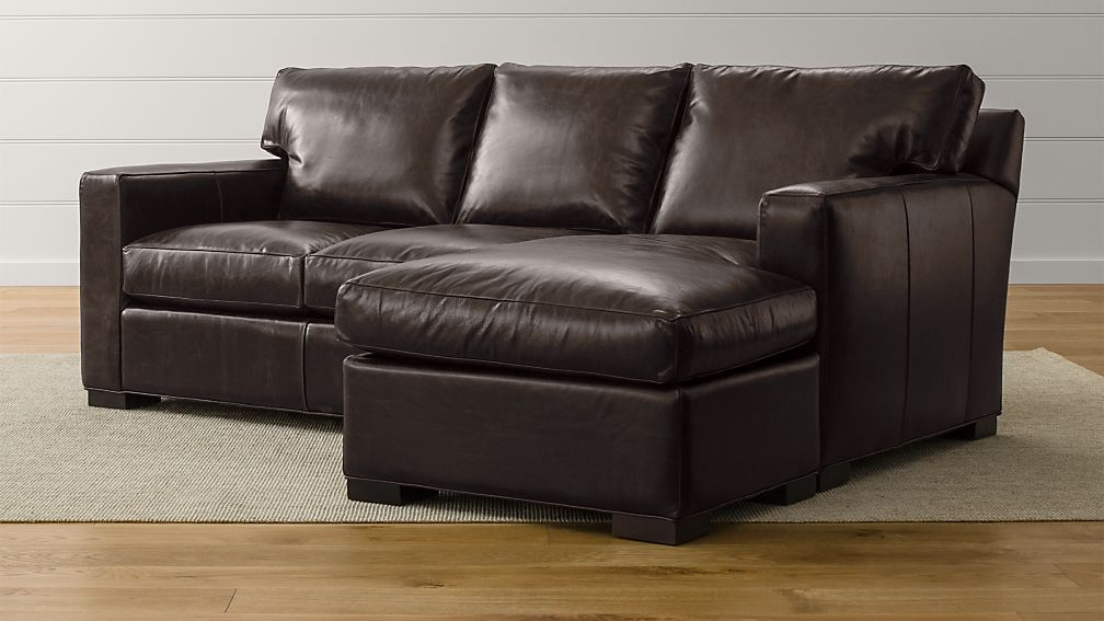 Axis II Leather Right Arm Queen Sleeper Lounger with Air Mattress