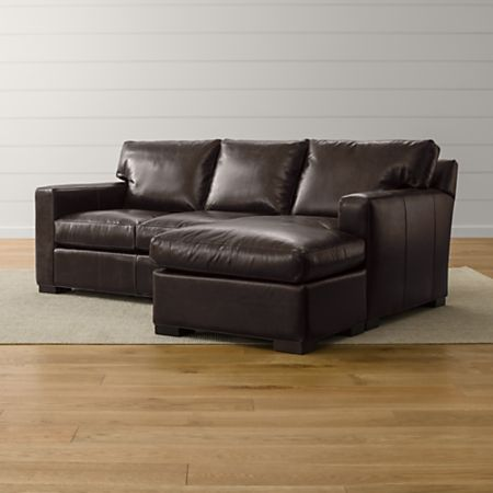 Axis II Leather Sleeper Sofa with Chaise + Reviews | Crate and Barrel