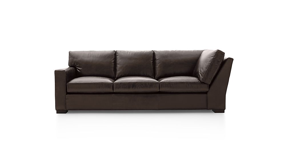 Axis II Leather Left Arm Corner Sofa