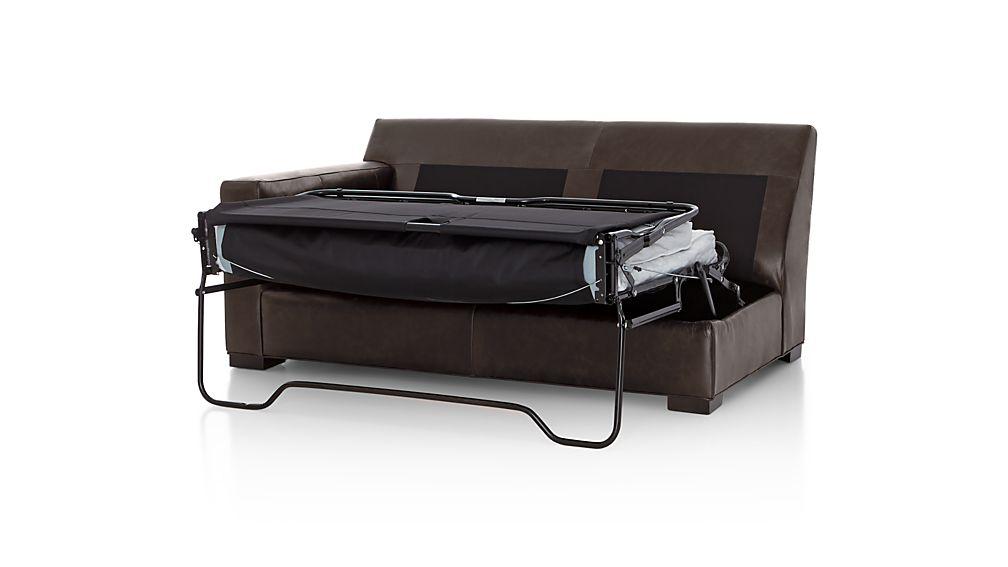 Axis II Leather Left Arm Full Sleeper Sofa