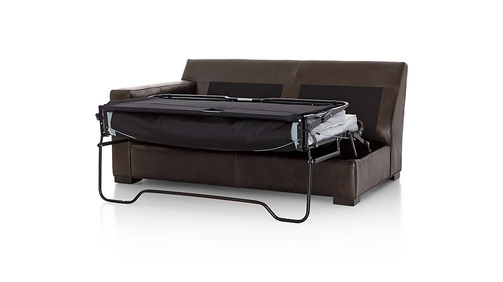 Axis II Leather Left Arm Full Sleeper Sofa with Air Mattress