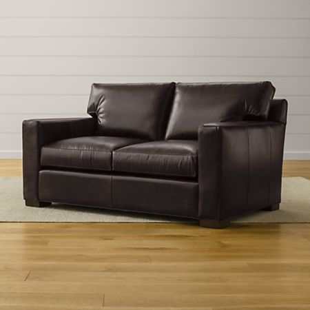 Pleasing Axis Ii Leather Loveseat Gmtry Best Dining Table And Chair Ideas Images Gmtryco