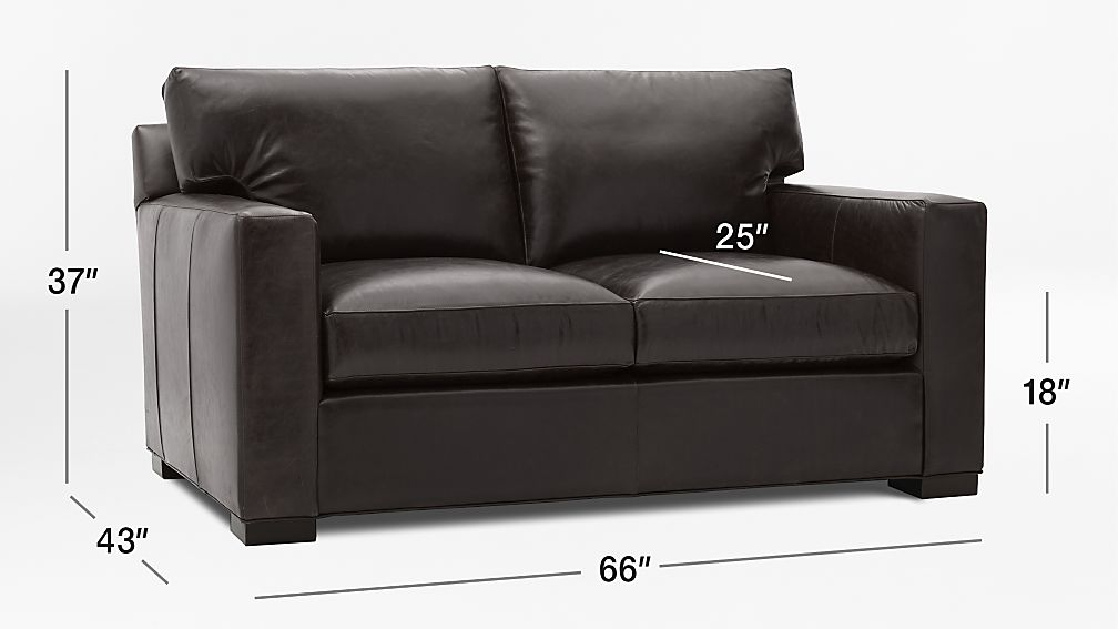 Axis Brown Leather Loveseat Crate And Barrel