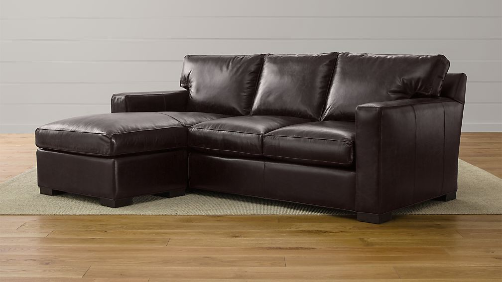 Axis II Leather Left Arm 3-Seat Lounger - Image 1 of 4