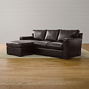 Leather Sectional Sleeper Sofas | Crate and Barrel