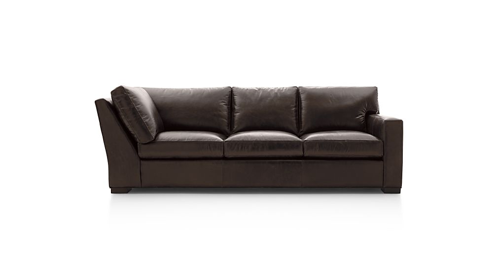 Axis Ii Leather Right Arm Corner Sofa In Axis Leather