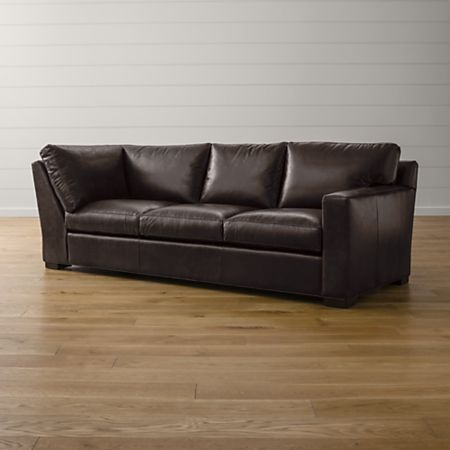 Axis II Leather Right Arm Corner Sofa + Reviews | Crate and Barrel
