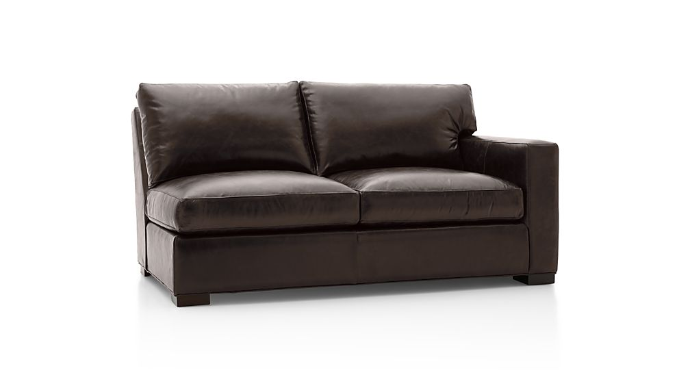 Axis II Leather Right Arm Full Sleeper Sofa