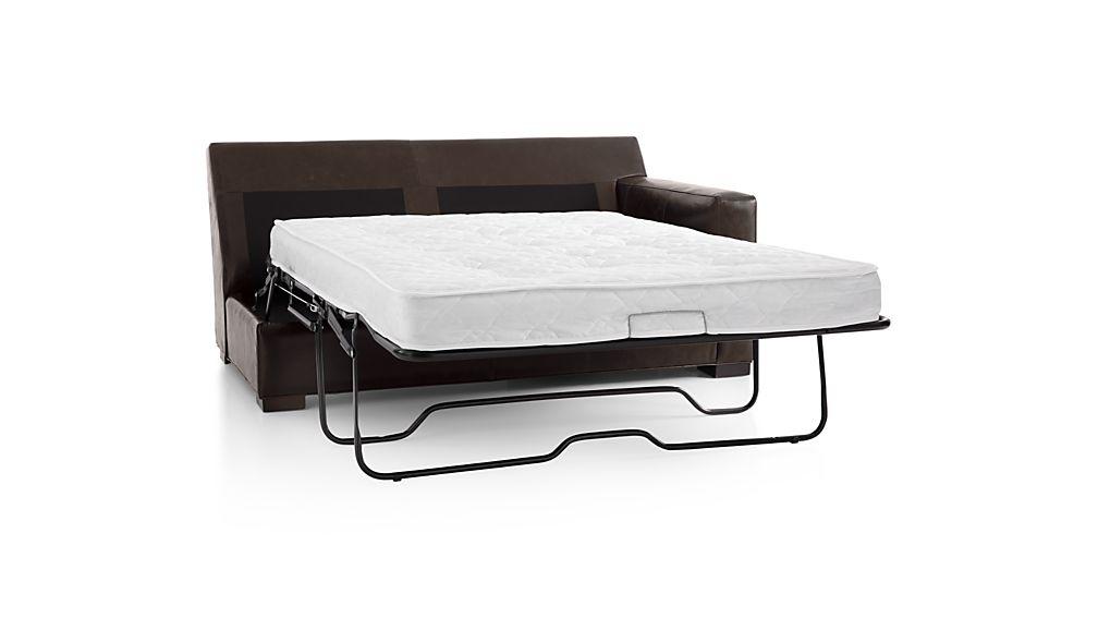 Axis II Leather Right Arm Full Sleeper Sofa