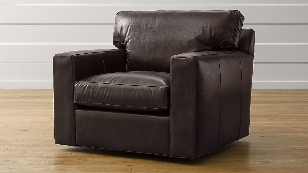 Axis II Leather Swivel Chair Crate and Barrel