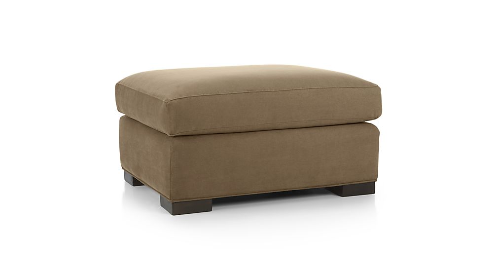 axis ii brown ottoman in ottomans cubes reviews crate and barrel. Black Bedroom Furniture Sets. Home Design Ideas