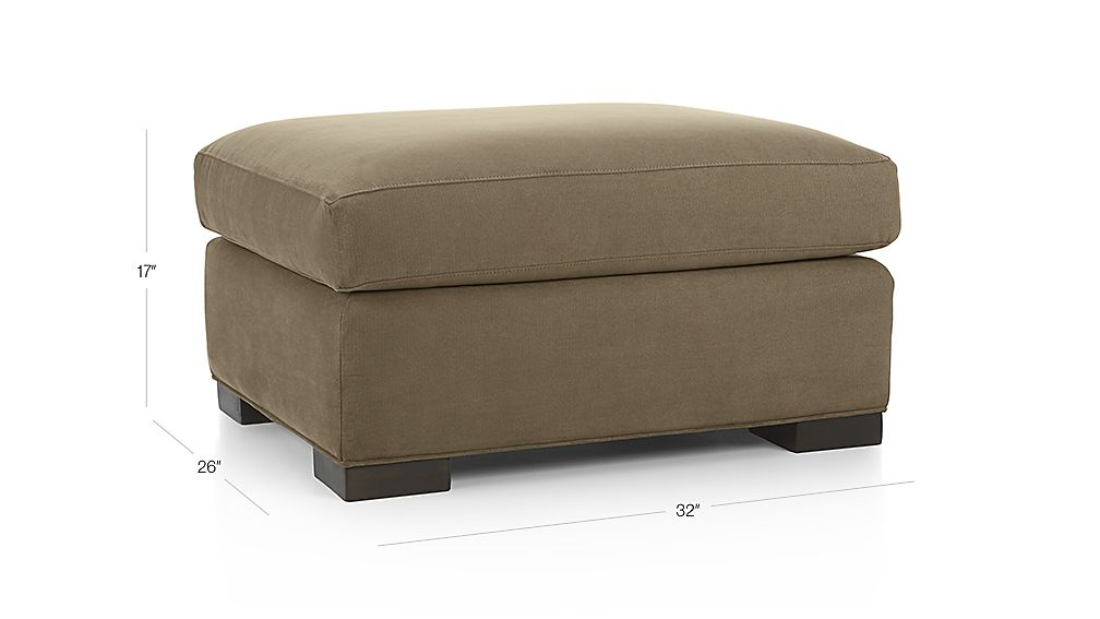 Axis Ii Brown Ottoman Crate And Barrel