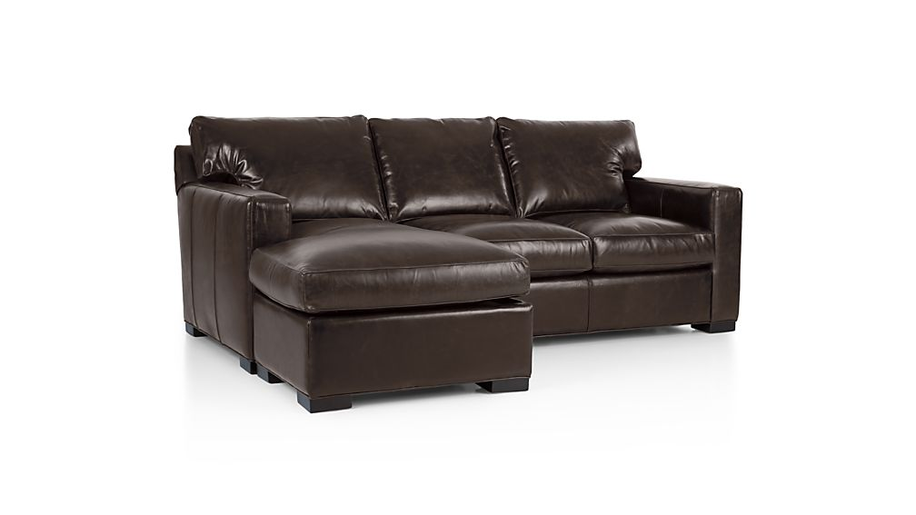 Axis II Leather Left Arm 3-Seat Lounger