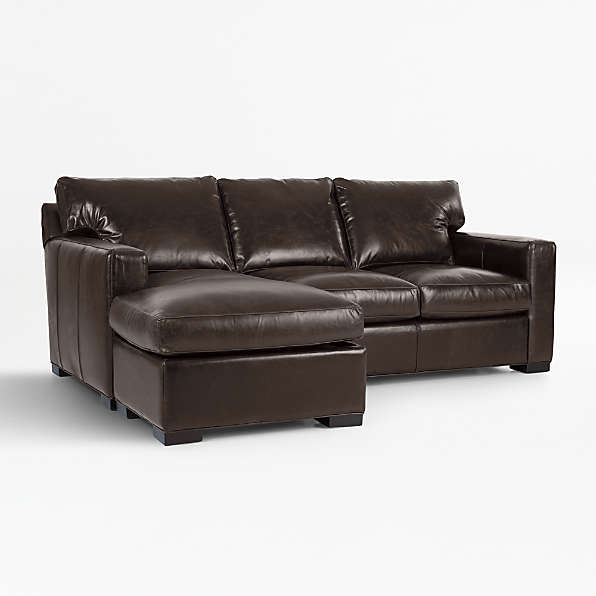 Leather Sectional Sleeper Sofas Crate And Barrel