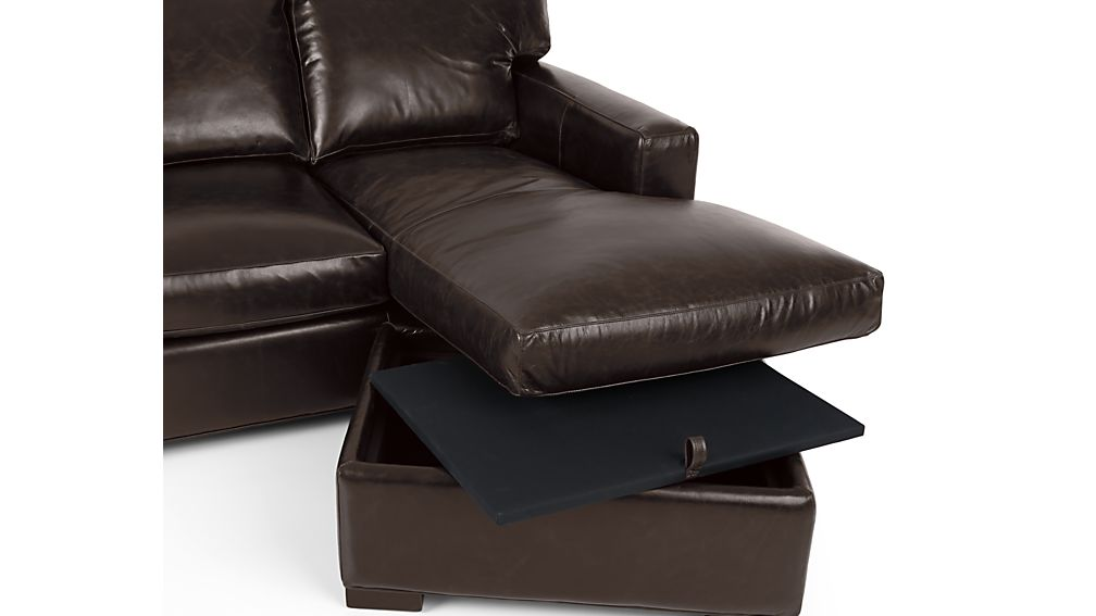 Axis II Leather Left Arm Queen Sleeper Lounger with Air Mattress