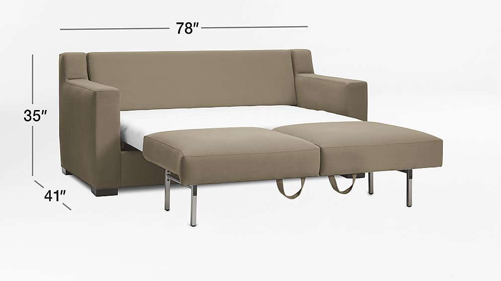 Axis II Queen Ultra Memory Foam Sleeper Sofa Reviews Crate and