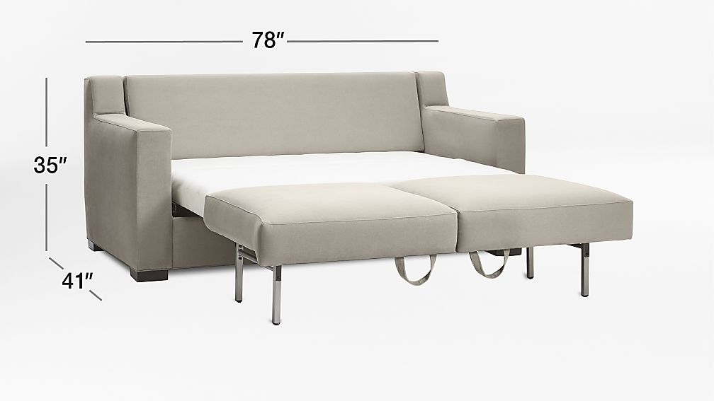 TAP TO ZOOM Image With Dimension For Axis II Queen Ultra Memory Foam  Sleeper Sofa