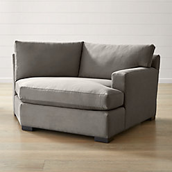 Axis ii left arm sectional sofa crate and barrel for Angled chaise lounge sofa
