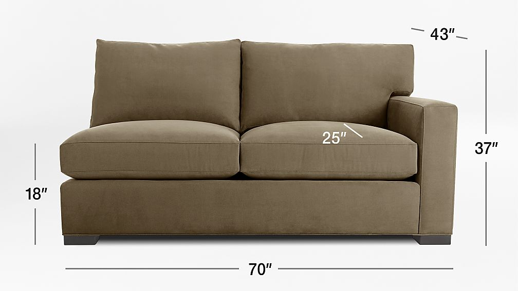 Tap To Zoom Image With Dimension For Axis Ii Right Arm Full Sleeper Sofa