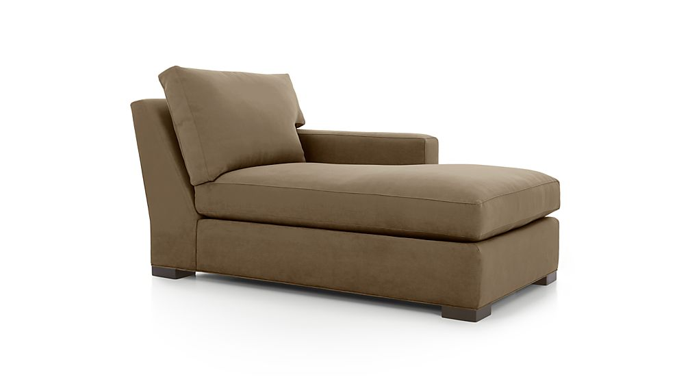 Axis ii brown right arm chaise lounge crate and barrel for Armed chaise lounge