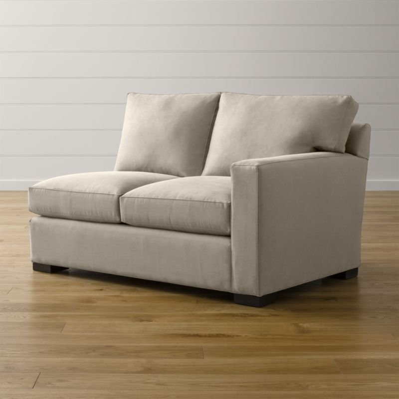Bring Axis home and watch life revolve around it. Upholstered in a high-performance fabric that's pet, kid, and family friendly, this versatile collection offers exceptional durability for family rooms and casual living rooms.  <NEWTAG/><ul><li>Frame is benchmade with certified sustainable hardwood that's kiln-dried to prevent warping</li><li>Flexolator spring suspension system</li><li>Soy-based polyfoam seat cushions wrapped in fiber-down blend and encased in downproof ticking</li><li>Fiber-down back cushions encased in downproof ticking</li><li>Hardwood legs stained with a rich brown finish</li><li>Made in North Carolina, USA of domestic and imported materials</li></ul><br />