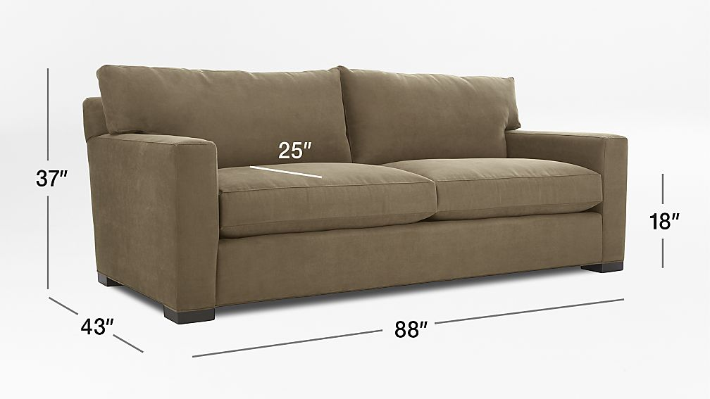 Axis Ii 2 Seater Brown Microfiber Sofa Crate And Barrel