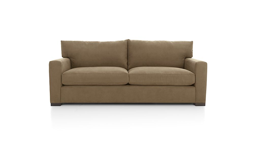 Axis II Seat Brown Sleeper Sofa Crate And Barrel - Love seat and sofa