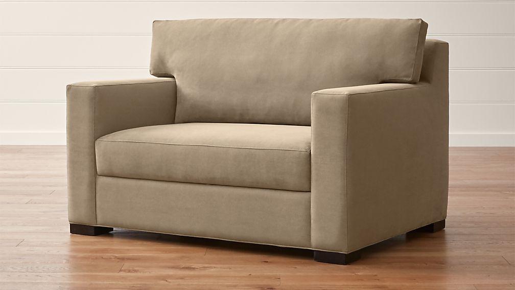 tasty sleeper sofa with air mattress.  Axis II Twin Ultra Memory Foam Sleeper Sofa Crate and Barrel