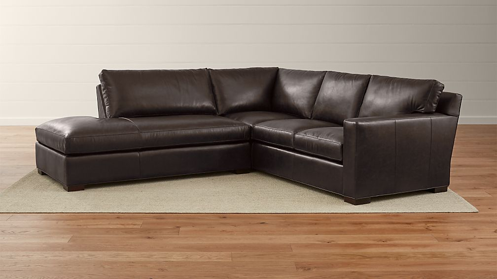 Axis ii 2 piece leather sectional crate and barrel for Axis ii 2 piece sectional sofa