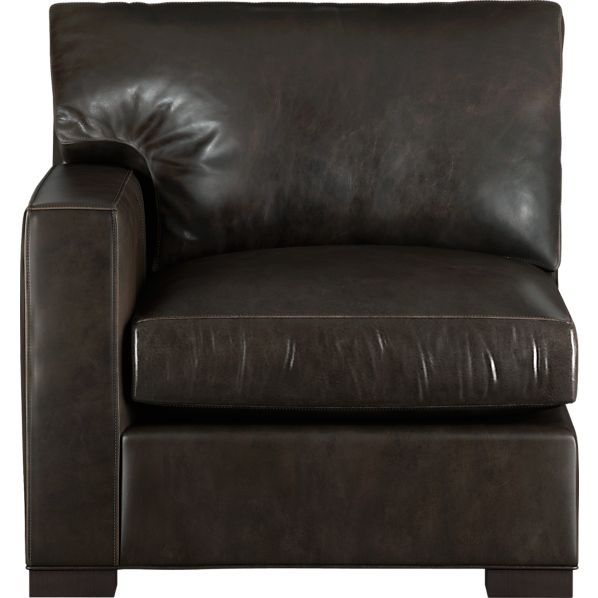 Axis Leather Sectional Left Arm Chair