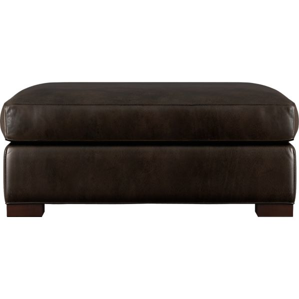 Axis Leather Storage Ottoman